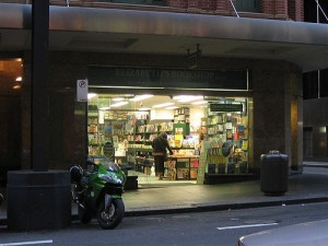 Late at night, Elizabeth's Pitt Street, Sydney. We (almost) never close.