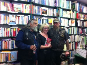 Two charming Gypsy Joker gentlemen attending our Avon Lovell book launch